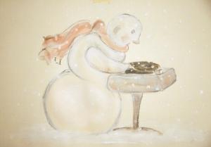 """Ein Schneemann legt """"50 Words For Snow"""" auf"""