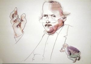 Der Dilettant zeichnet den großen Philosophen Sloterdijk