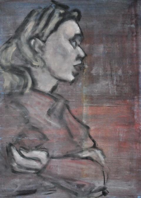 Frau nach rechts