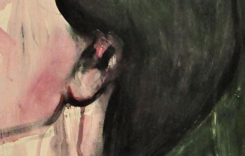 Kopf vor Grün Detail