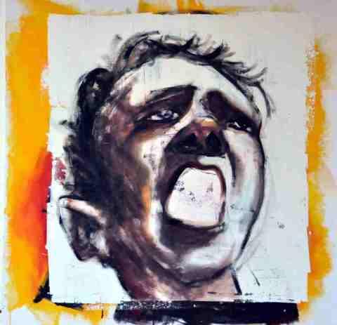 Kopf aufgerissener Mund