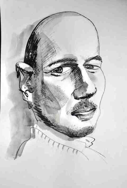Portrait Tusche 2zzozo7