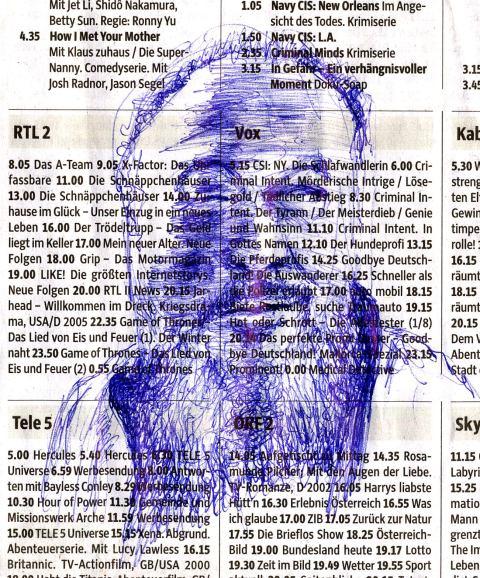 Ai Weiwei auf Zeitungspapier