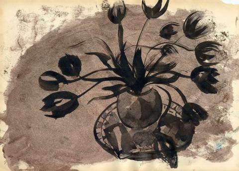 tulpenstrauss-gekleckst