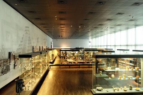 Saal der Mesoamerikanischen Kulturen im Ethnologischen Museum Dahlem