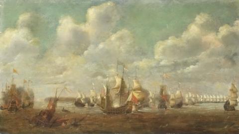 Seestück, Unbekannter Maler, vermutlich Niederlande 17. Jahrhundert