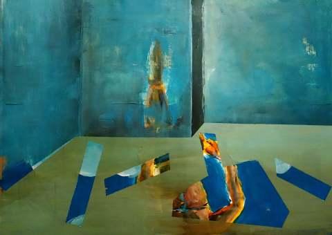 Raum in Blau_