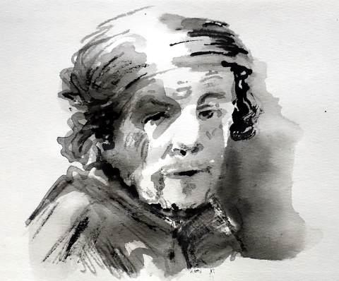 Rembrandt als Paulus