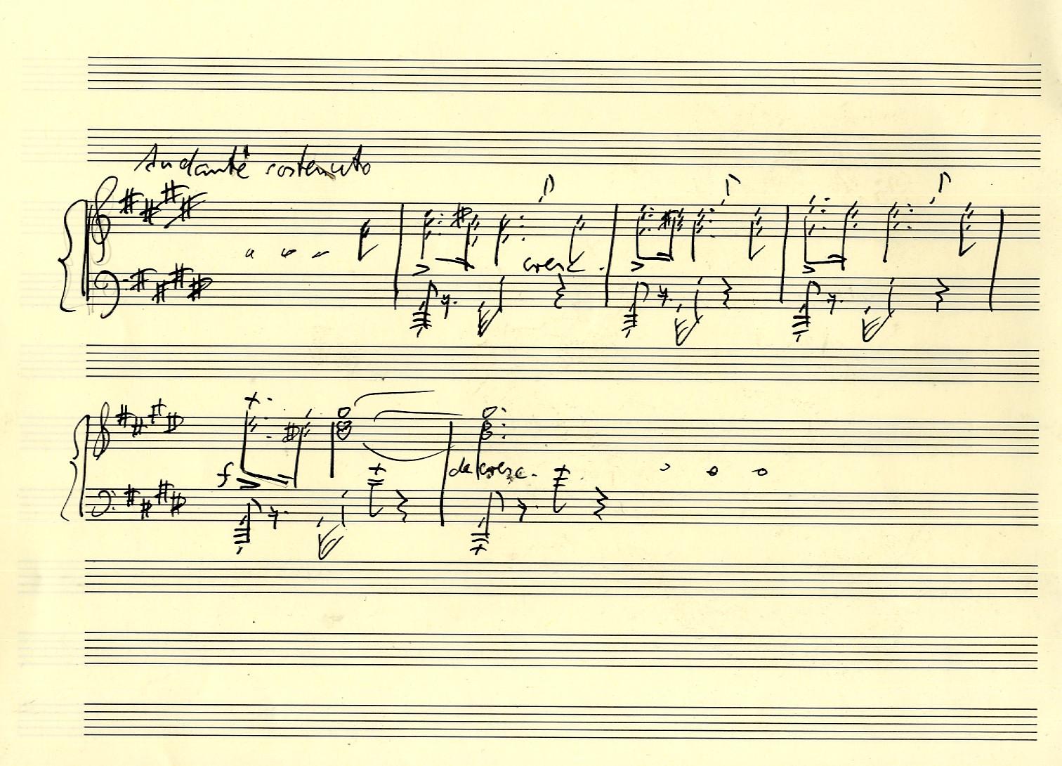 Schubert Sonate B-Dur D 960 II Takte 8-13